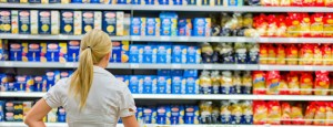 PTSD woman overwhelmed with choices at grocery store