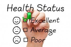 Health status checklist excellent checked for people in community