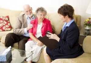 mature couple in therapy